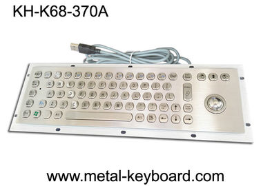 China Mounted 67 Keys Industrial Computer Keyboard , Dust Proof Keyboard In Metal factory