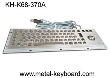 China Stainless Steel Industrial Keyboard with Trackball / IP65 Waterproof factory