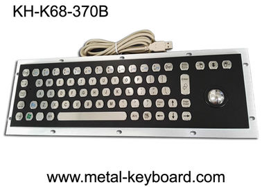 China Stable Performance Industrial Metal Computer Keyboard , Well Compatible Trackball Keyboard factory