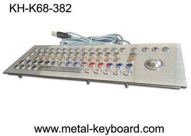 China Water resistant stainless steel keyboard with trackball mouse for Kiosk factory