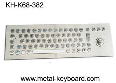 Kiosk Self - Service Terminal Metallic Industrial Keyboard with Trackball , USB