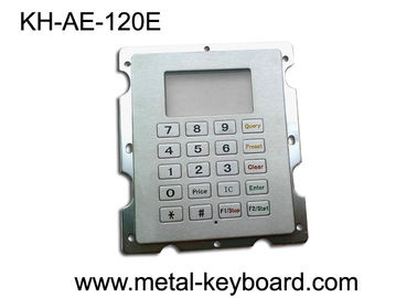 China Stainless Steel Gas Station Rugged Keypad with 20 Keys , Panel Mount Keypad factory