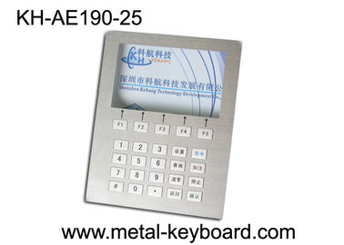China Custom Layout Stainless Steel Keyboard  ,  Digital Kiosk Keypad with 25 Keys factory