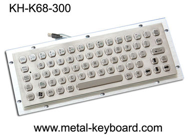 China Vandal Resistance Metal Computer Keyboard / 65 Keys Touchpad Stainless Steel Keyboard factory