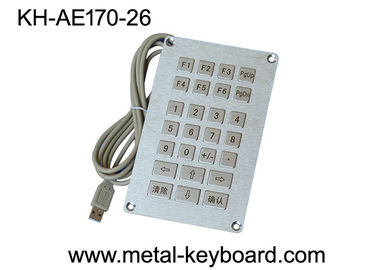 China Vandal resistant SS Industrial Entry Keypad , weatherproof keypad with 26 Keys factory