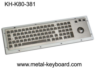 China 80 Keys IP65 Rated Metal Industrial Keyboard With Trackball Mouse And Numeric Keypad factory