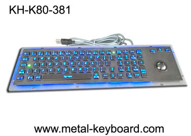 China SS Industrial Metal Computer Keyboard With Trackball , Standard USB Or PS2 Output Support factory