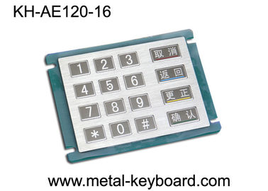 China 16 Keys Stainless Steel Metal Numeric Keypad In 4x4 Matrix , Vandal proof factory