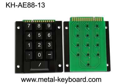 China Industrial Metal Kiosk Keyboard with 15 Keys and Metal Rear Panel Mounting factory