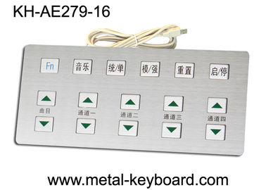 Anti - corrosive Metal Kiosk Keyboard industrial with Stainless Steel Material