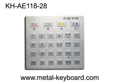 China Dust proof Panel Pounting Metal Access Control Keyboard with 28 Keys factory