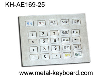 China Gas Station Metal Keypad , water resistant stainless steel keypad factory