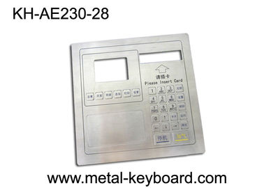 Vandal proof Metal panel mount keypad ,  customizable industrial keypad