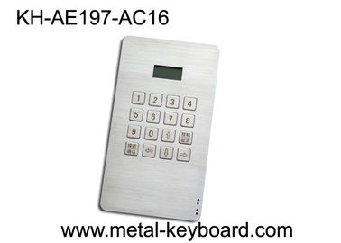 4x4 Design Rugged Metallic Keypad with 16 Keys for Access Control System