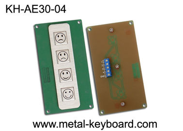 China 4 Keys Metal Kiosk Keyboard , stainless steel keypad for Service Evaluation Device factory