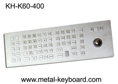 China Custom Rugged Industrial Kiosk Keyboard with Trackball 60 Keys Water Resistant factory