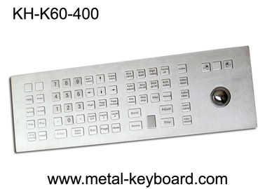 China Weather - Proof Industrial Keyboard with Trackball , Kiosk trackball keyboard Metal factory