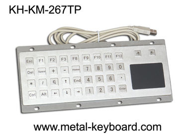 China Custom Mine Vandal proof Metal Panel Mount Keyboard with Touchpad Mouse factory