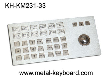 China Ruggedized Metal Panel Mount Industrial Keyboard with Trackball factory