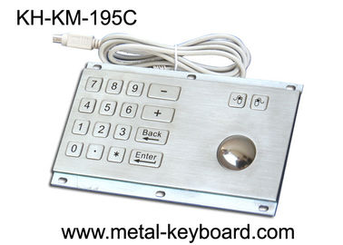 China Rugged Stainless Steel Panel Mount Keyboard with Trackball IP65 Rate Dustproof factory