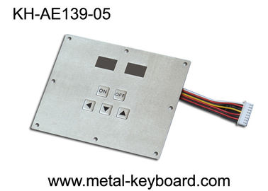 China Ruggedized Metal Industrial Keypad with 5 Keys for Industrial Control Kiosk factory