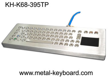 Stainless Steel Desktop Industrial Mechanical Keyboard with Touchpad Rugged