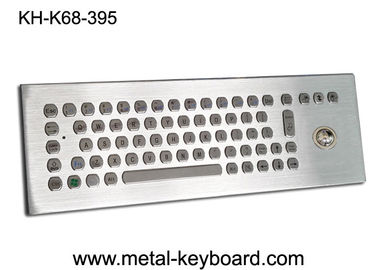 67 keys Metal desktop Industrial keyboard with Trackball for Industrial Control Platform