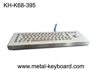 China Standalone Stainless Steel Ruggedized Keyboard , Industrial Desktop Keyboard with Trackball factory