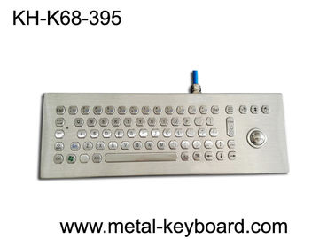 China Desktop Vandal Proof Panel Mount Keyboard Stainless Steel For Industrial Control Device factory
