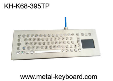 China Desktop Stainless Steel Industrial Keyboard with Touchpad , Metal Computer Keyboard factory