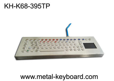 China Vandal resistant 70 PC Ruggedized Keyboard Panel Mount layout with touchpad factory