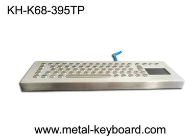 China 70 Keys Rugged Metal Stainless Steel Keyboard With Stand Alone Design For Industrial Control Platform factory