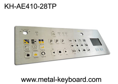 China IP65 Dustproof Rugged Industrial Metal Stainless Steel Keyboard with Touchpad factory