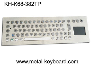 China Rugged Vandal Proof Touchpad Keyboard Industrial With USB Port And 70 Keys factory