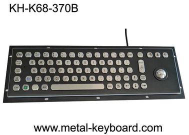 Black Metal Stainless steel Industrial Mounted Keyboard with Trackball Pointing Device