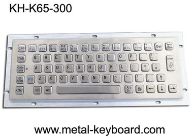 China Ruggedized Industrial Metal Keyboard For Info Kiosk , Compact Entry SS Keyboard factory