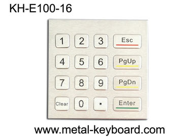 China Rugged Waterproof Access Control Keypad , Stainless Steel Numeric 16 Key Keypad factory