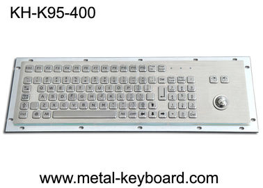 China Panel Mount Metal Industrial Keyboard With Trackball 95 Keys Standard PC Layout factory