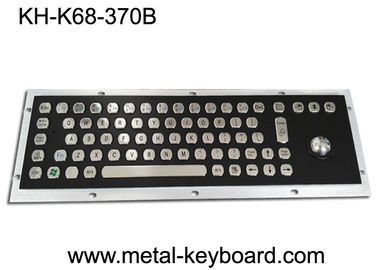 China Electroplated Black Industrial Keyboard with Trackball Stainless Steel Laser Trackball factory