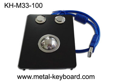 25mm Panel - mount Black Metal Trackball IP65 For Industrial Pointing Device