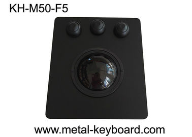 China 50mm Black Panel Mount Trackball High Sensitivity PS/2 / USB Interface OEM/ODM Avaliable factory