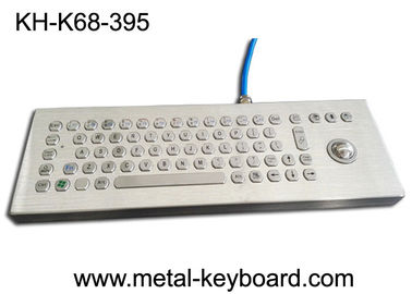 China Desktop Industrial Computer Keyboard Stainless Steel Water Proof With Laser Trackball factory