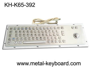 China Metal Panel Mount Industrial Computer Keyboard Laser Trackball Mouse Type factory