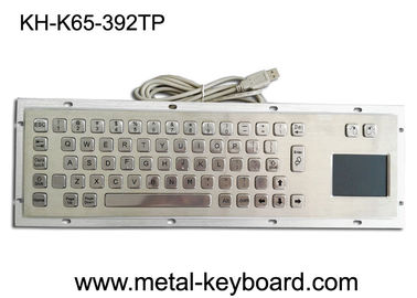 China Stainless Steel Panel Mount Kiosk Laptop Mechanical Keyboard IP65 USB Connection Plug factory