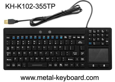 China Waterproof USB Interface Industrial PC Keyboard 106 Keys No Noise With Touchpad factory