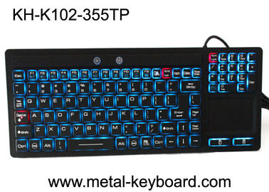 China Touchpad Backlit Industrial Computer Keyboard Rubber Silicone For Ruggedized Computer factory