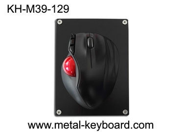 China Resin Trackball With Black Metal Mounted Panel , Industrial Computer Mouse factory