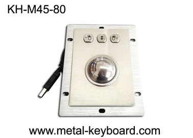 China Waterproof Kiosk Trackball Pointing Device with 45MM Stainless Steel Trackball factory