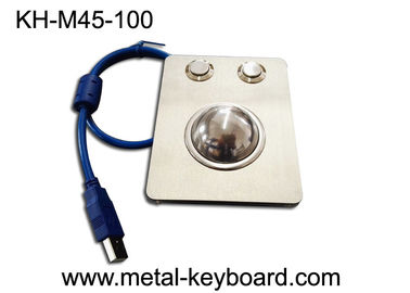 China Waterproof Panel Mounted Industrial Trackball Mouse W/38mm Ball Stainless Steel factory