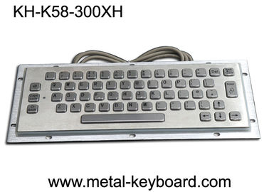 China Waterproof Vandalproof Industrial Metal Keyboard Stainless Steel Customized Design factory